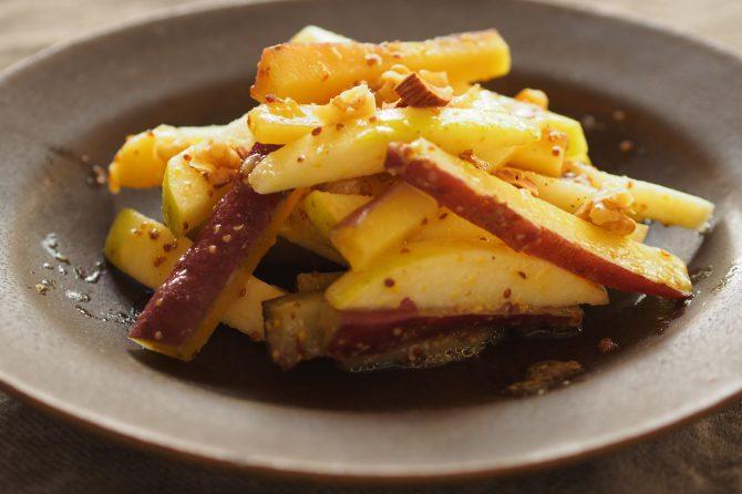 【かんたん旬レシピ】食物繊維たっぷり!さつまいもとりんごのさっぱりサラダ