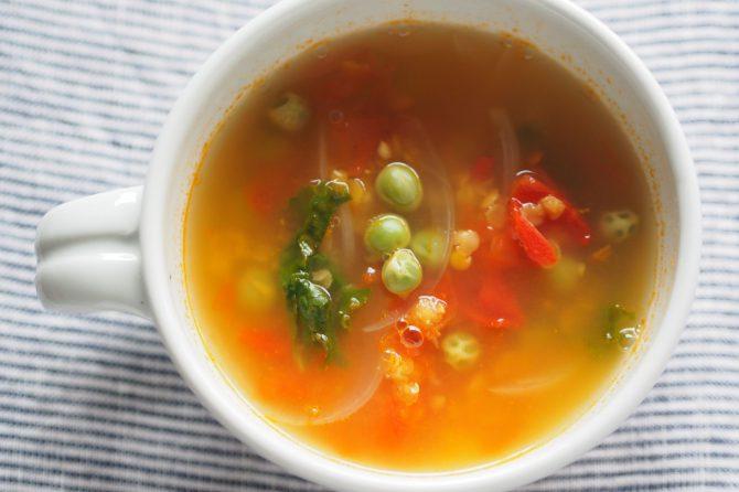 【かんたんレシピ】トマトスープで疲労回復♪